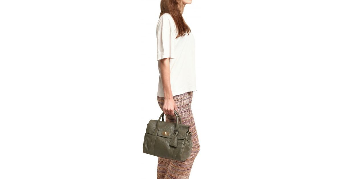 Lyst - Mulberry Small Bayswater Satchel Top Handle in Green 4d2ee93e2b