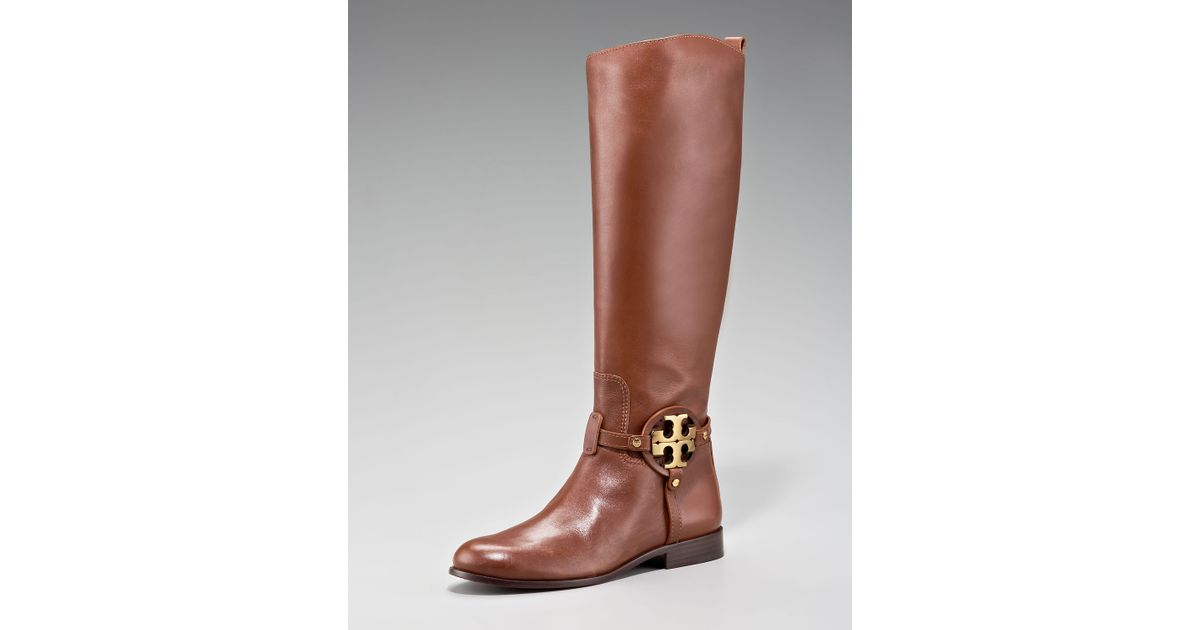 028a9935b49 Lyst - Tory Burch Aaden Riding Boot in Brown