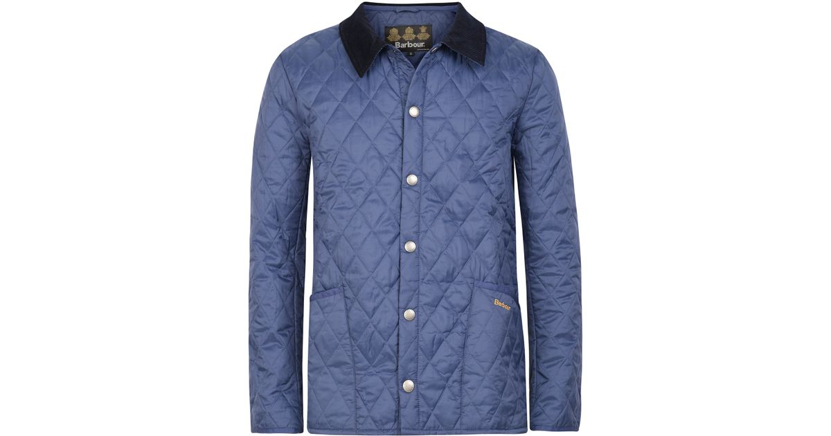 Lyst Barbour Blue Lightweight Liddesdale Quilted Jacket In Blue