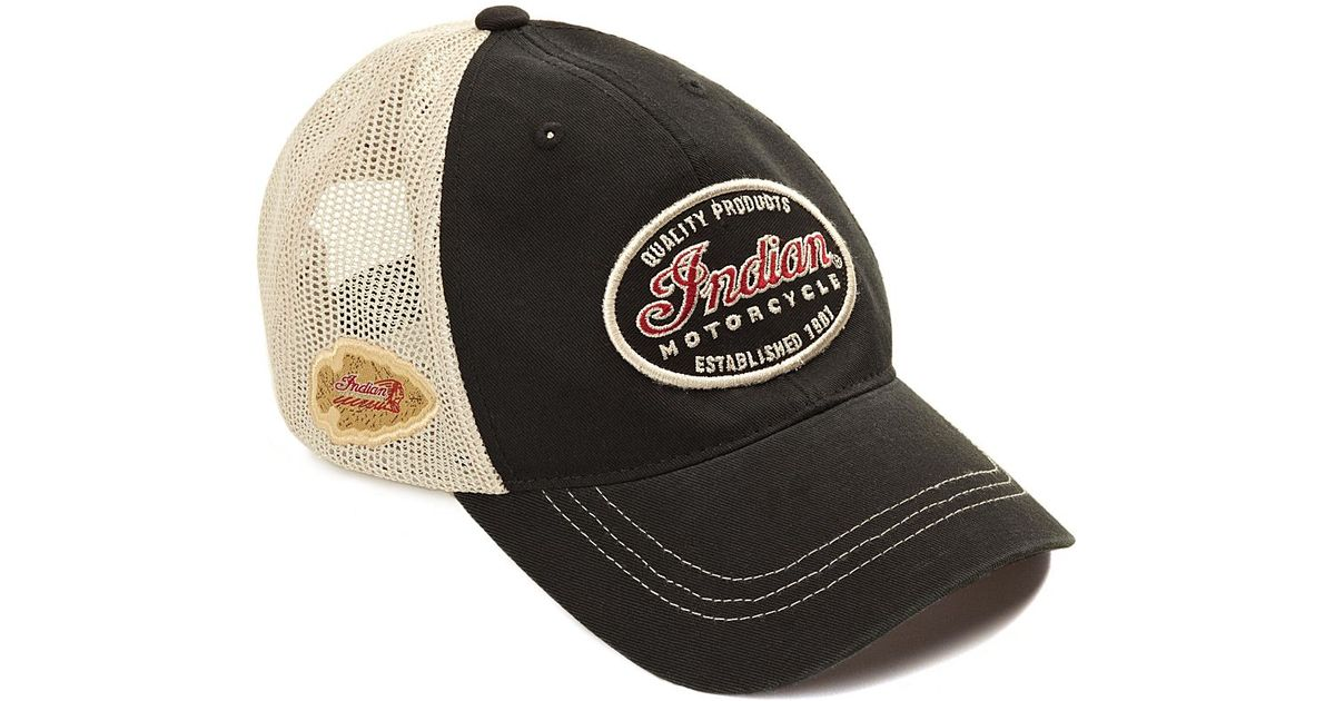 eb5feacf8dd Lyst - Lucky Brand Indian Motorcycle Baseball Cap in Black for Men