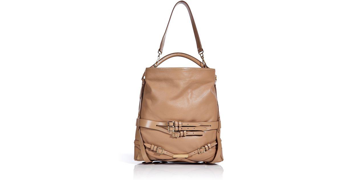 c804159dda43 Lyst Burberry Soft Leather Bridle Medium Gosford Hobo Bag In Brown