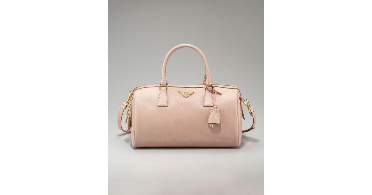 b373fdc50281 5f5cf 84a46; france lyst prada saffiano lux top handle bag in pink bb46e  45606
