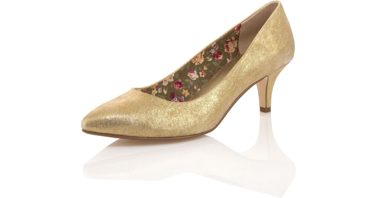 Lyst - Seychelles Metallic Low-Heel Pump in Metallic