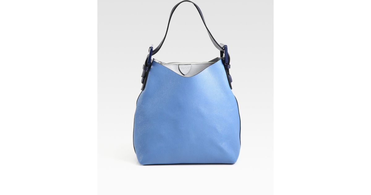 Marc jacobs Victoria Bucket Hobo Bag in Blue | Lyst