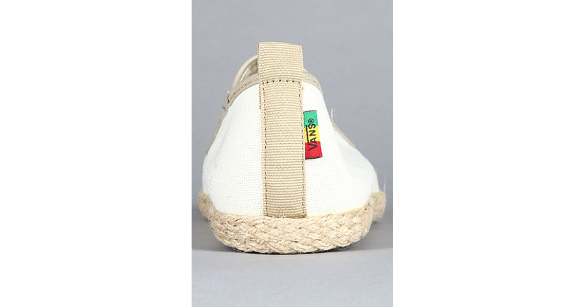 12bd3379198ccc Lyst - Vans The Surfjitsu Sneaker in Natural White   Rasta in White for Men