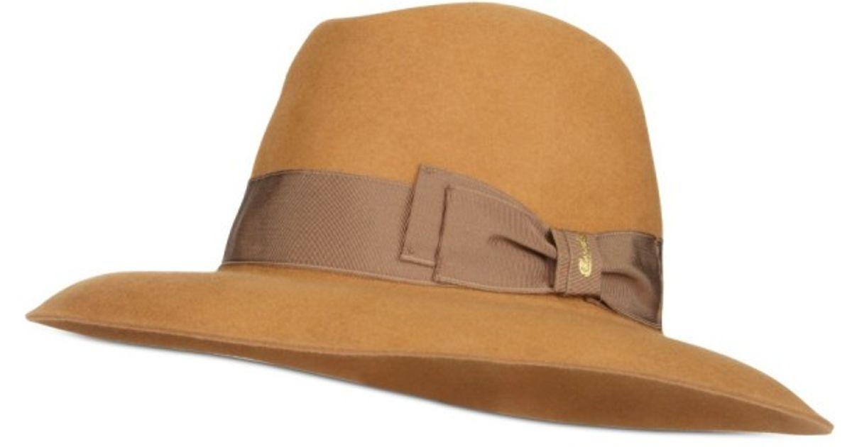 Lyst - Borsalino Folar Qs Hat in Natural c8674b11d7c9