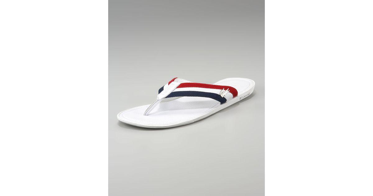 d577b5c0e Lacoste Carros Striped Flip-flop in White for Men - Lyst