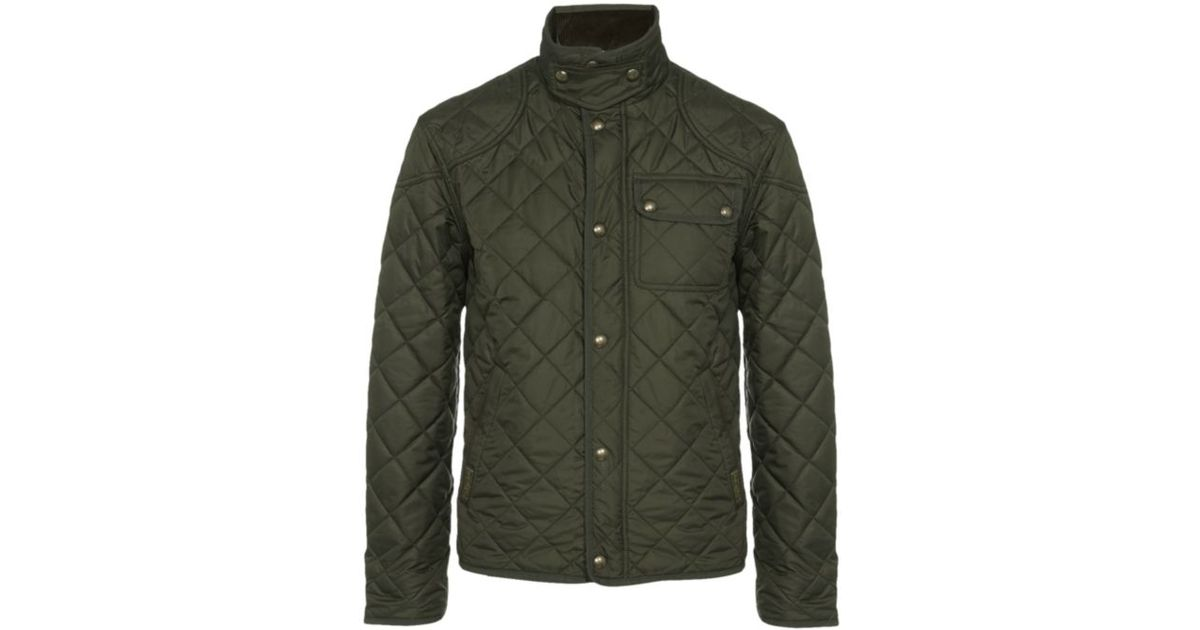 polo ralph lauren richmond quilted bomber jacket in green. Black Bedroom Furniture Sets. Home Design Ideas
