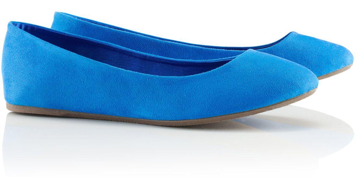 c8408b3fd09c H M Ballet Pumps in Blue - Lyst