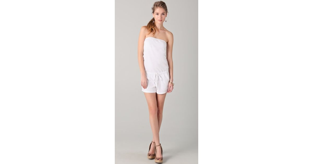 4799ee38b3f Lyst - Juicy Couture Breezy French Terry Romper in White