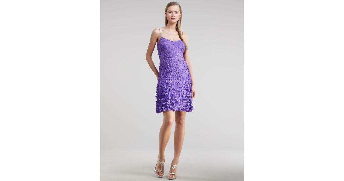 67df03a7c61 Lyst - THEIA Petal-detail Cocktail Dress in Purple
