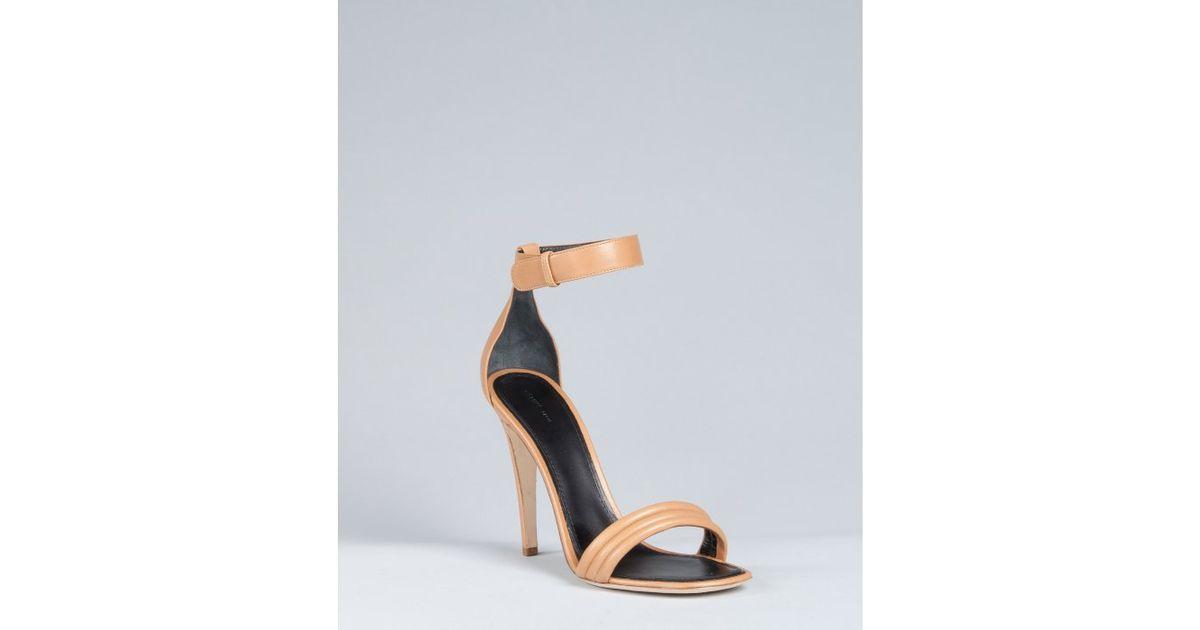 Céline Leather Ankle-Strap Sandals sale the cheapest QvWYK5