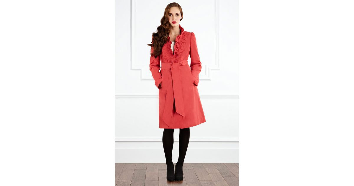 Coast Daina Trench Coat in Red | Lyst