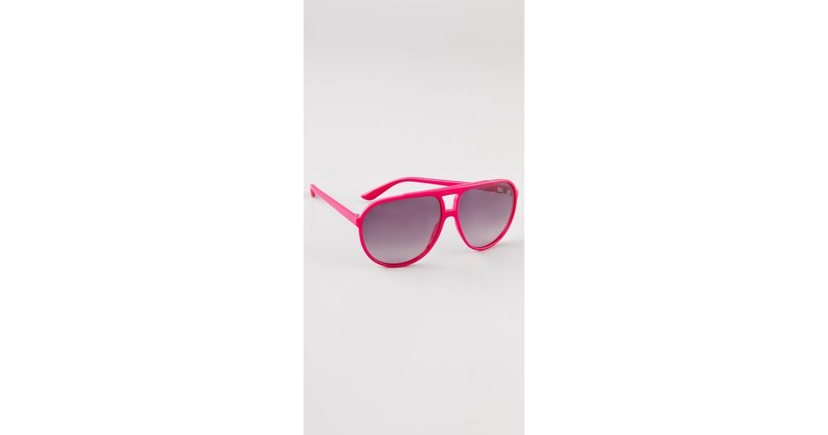 Marc Jacobs Oversized Aviator Sunglasses  marc by marc jacobs oversized plastic aviator sunglasses in pink