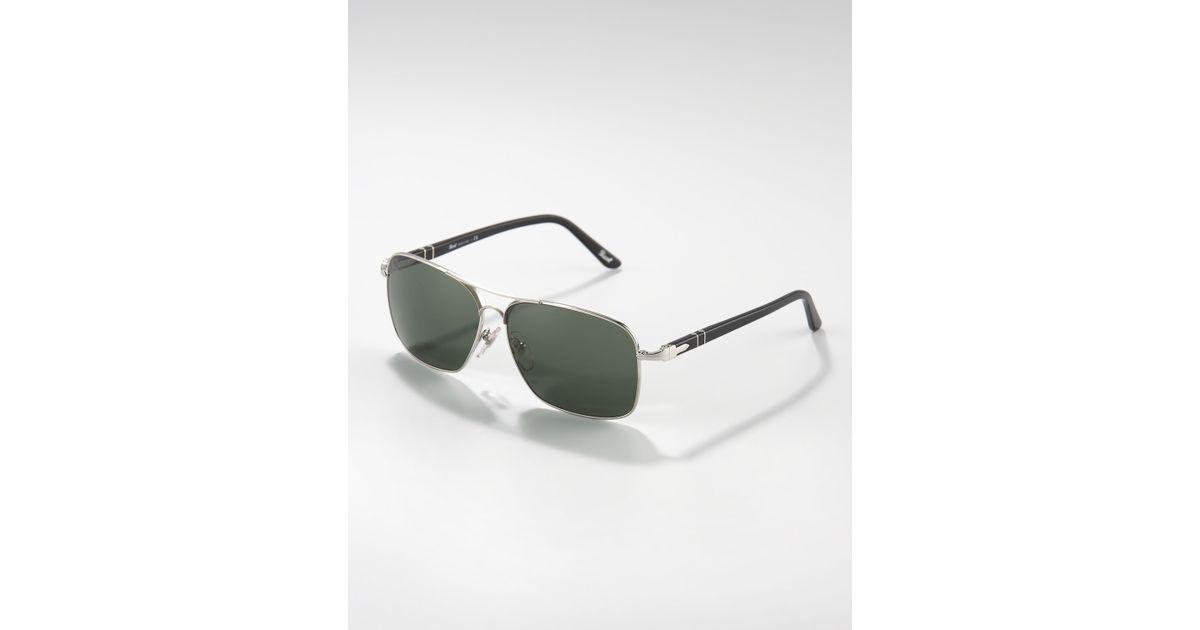 55ba1092f1a31 Persol Square Metal Sunglasses in Metallic for Men - Lyst