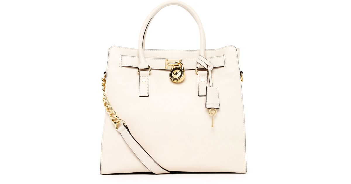 a6501bb3c93c Michael Kors Hamilton Large Tote Vanilla in White - Lyst