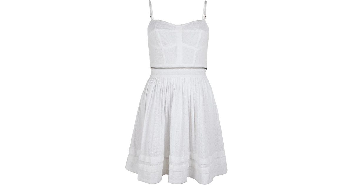 Lyst - Allsaints Anglais Prom Dress in White