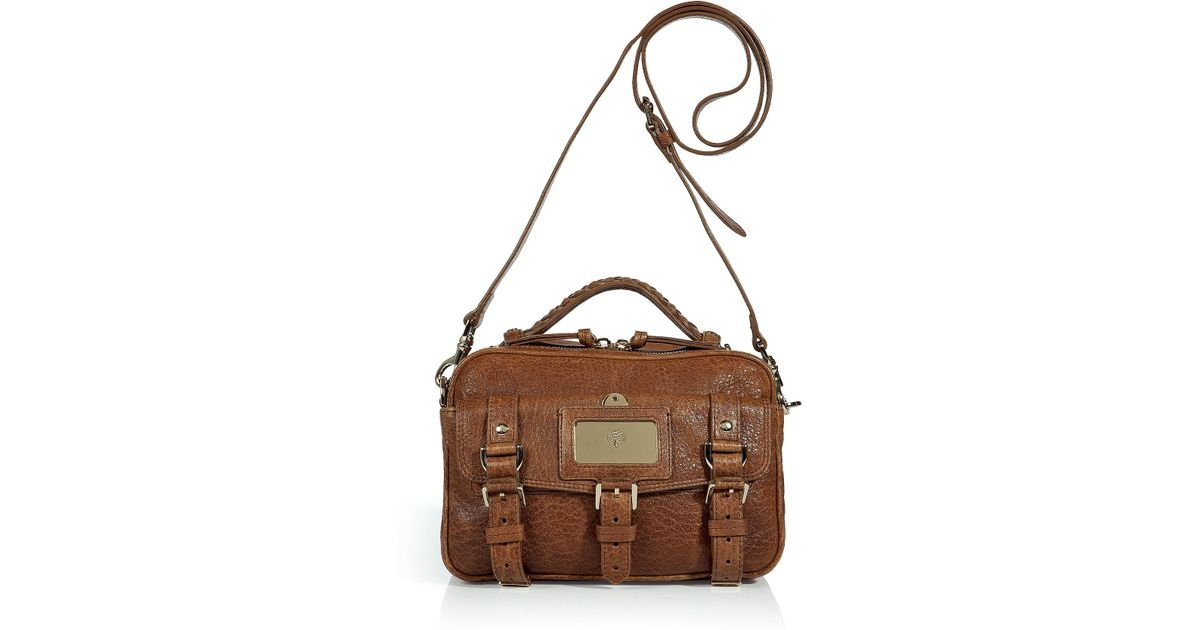 ... inexpensive lyst mulberry shiny oak travel camera bag in brown a427c  e18ba 167af793186be