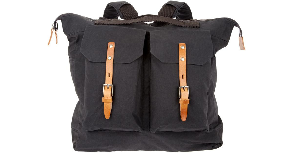 7b1223035673 ... best prices Lyst - Ally Capellino Frank Waxed Cotton Rucksack in Black  for Men c5ab9 06d8c ...
