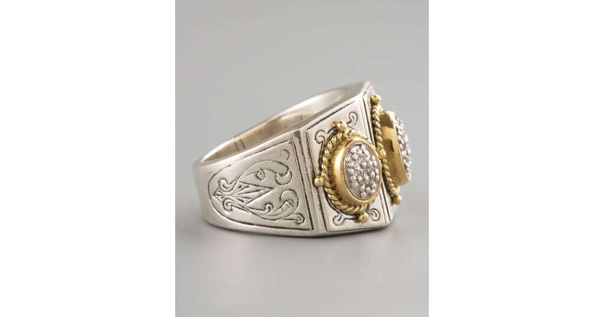 Konstantino Three-Stone Pave Ring uikQ6wITFb