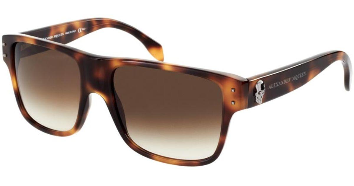 a1fb83b7100 Lyst - Alexander McQueen Alexander Mcqueen Skull Wayfarer Sunglasses in  Brown for Men