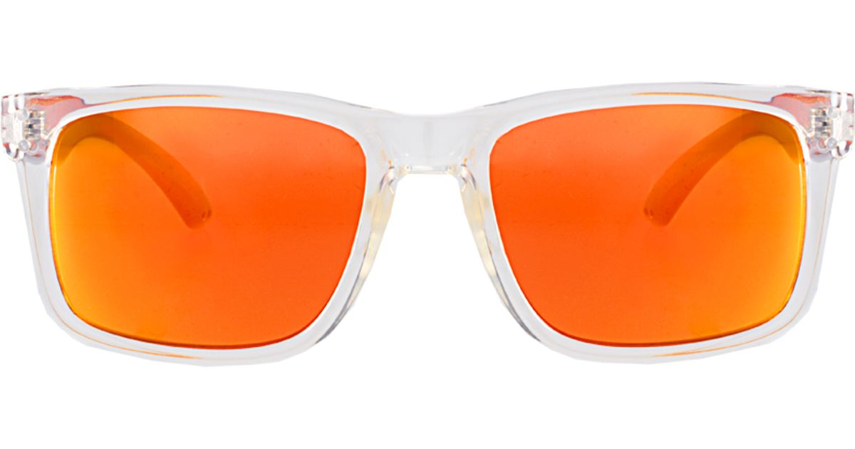 b82fb5ec0ce Lyst - ASOS Asos Square Wayfarer Sunglasses with Orange Mirror Lens in  White for Men