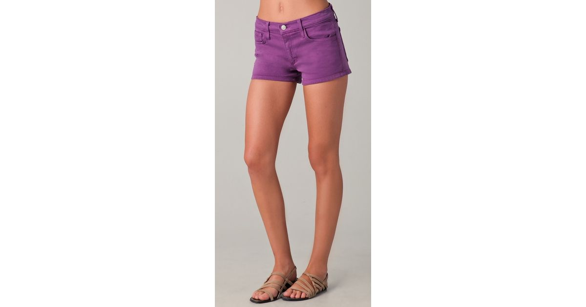 Joe's jeans Denim Shorts in Purple | Lyst