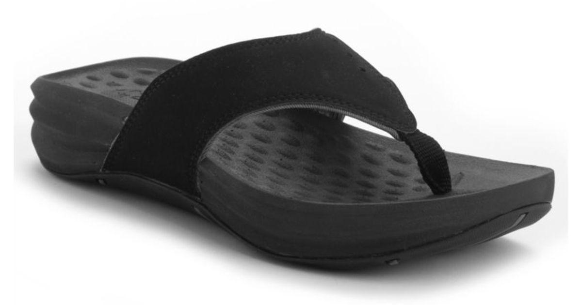 b8b4bb1f0110 Lyst - Clarks Privo Longshore Wedge Sandals in Black