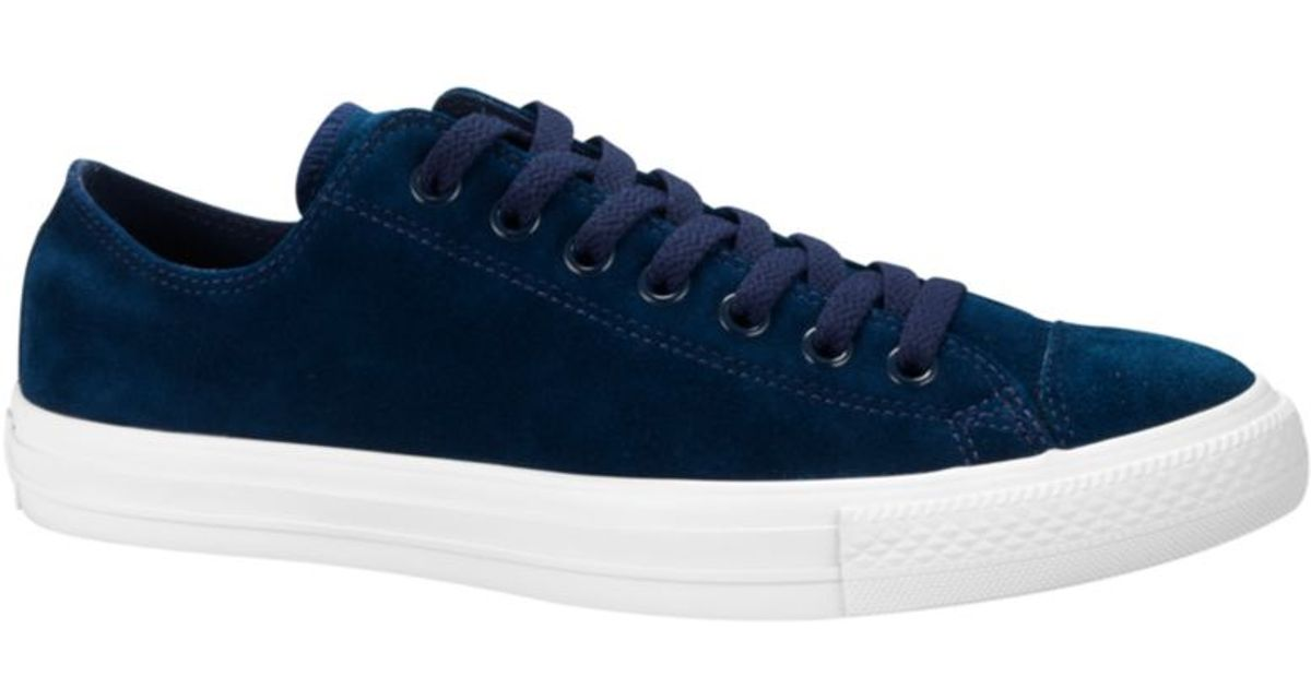 56259763e8b8 Lyst - Converse Chuck Taylor All Star Suede Sneakers in Blue for Men