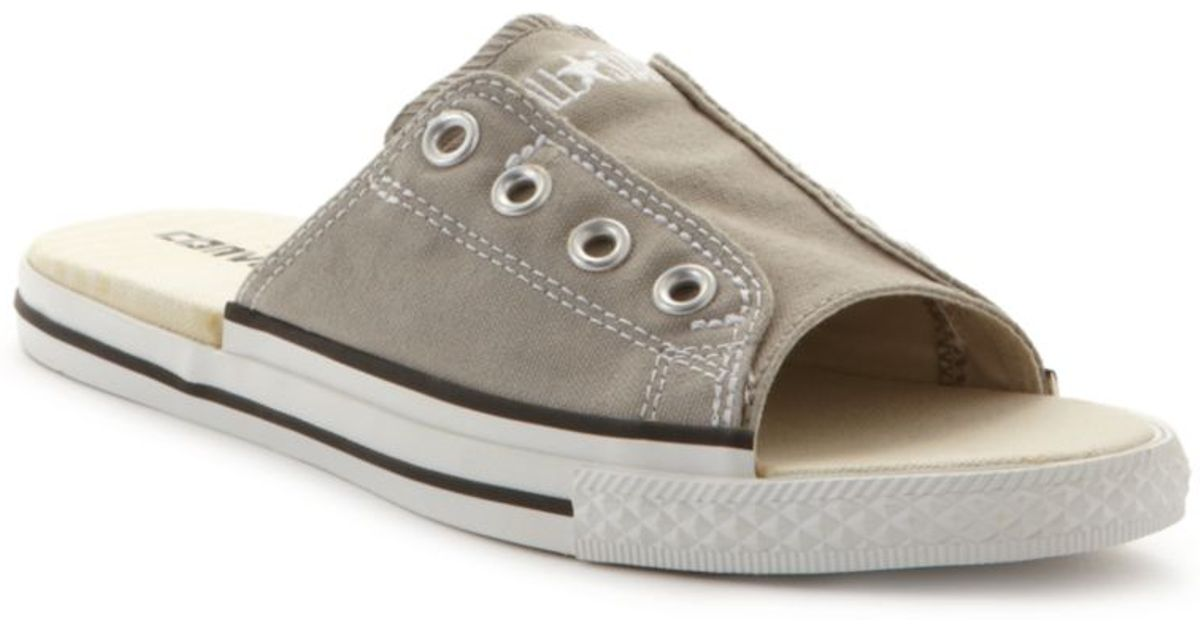 new concept 9fa5e a4dcf Converse Ctas Cut Away Sandals in Gray - Lyst