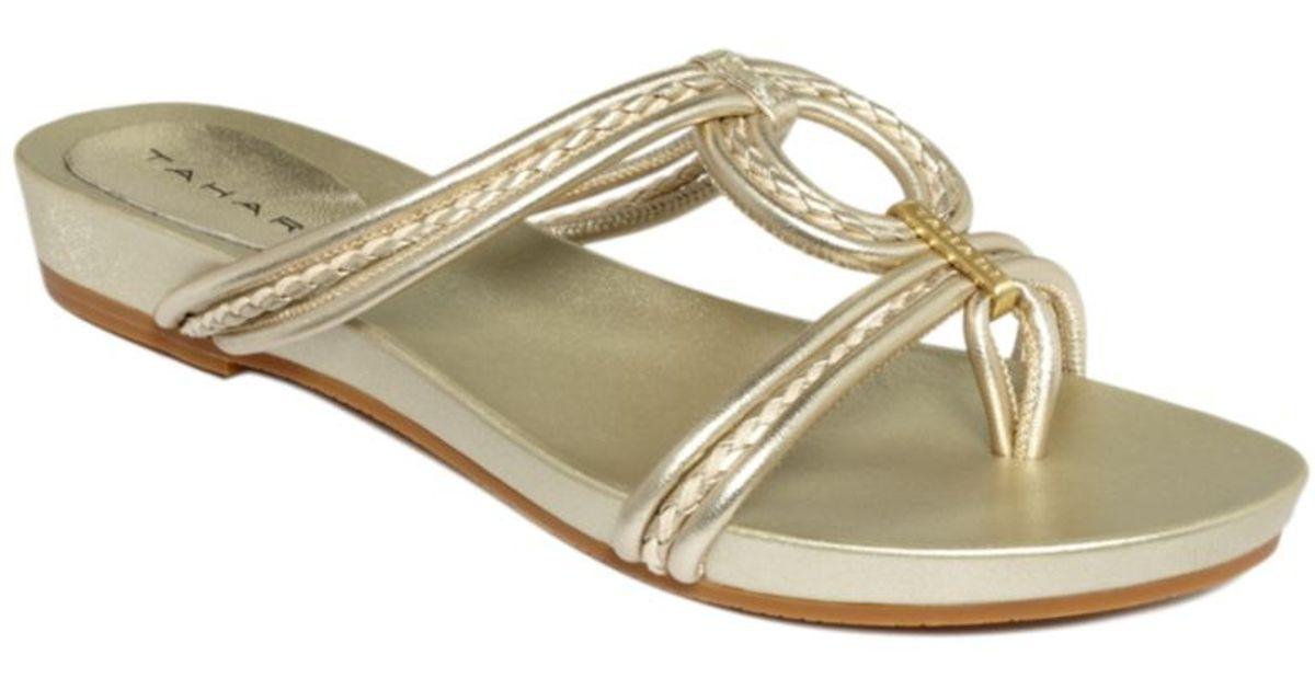 Metallic Lyst Chime Tahari Sandals Flat LSGUpqzjMV