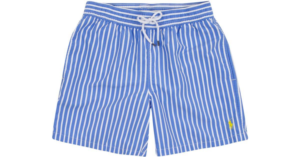 4a9a3cbdcb8a3 Polo Ralph Lauren Blue Stripe Swim Shorts in Blue for Men - Lyst