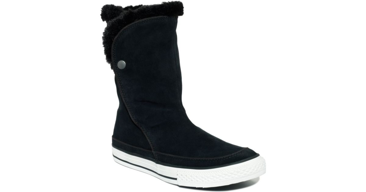 7faa6e21b0ce Lyst - Converse Chuck Taylor All Star Beverly Boots in Black