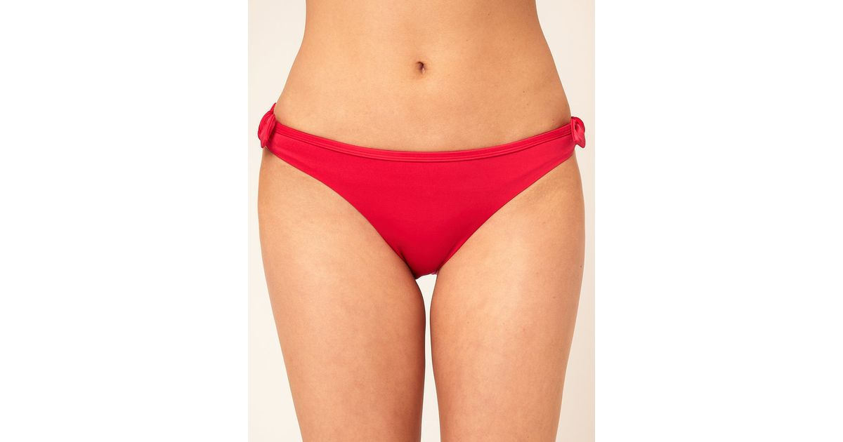 Lyst - Ultimo Ultimo Hipster Bikini Bottom with Fixed Bow Sides in Red f1f671327