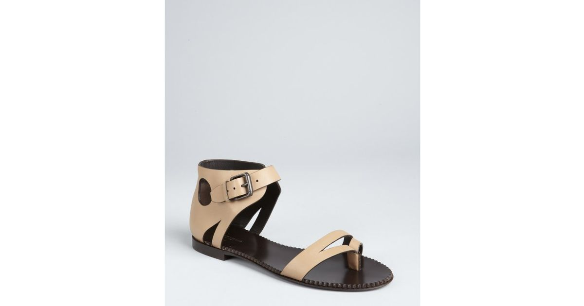 buy cheap perfect Bottega Veneta Buckle Leather Sandals genuine sale online where to buy low price bbjoAlmX