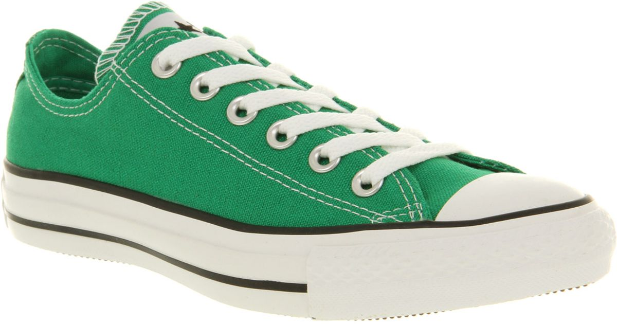 aa1fde1026c ... shop lyst converse all star ox low jelly bean green in green for men  68683 09f3c