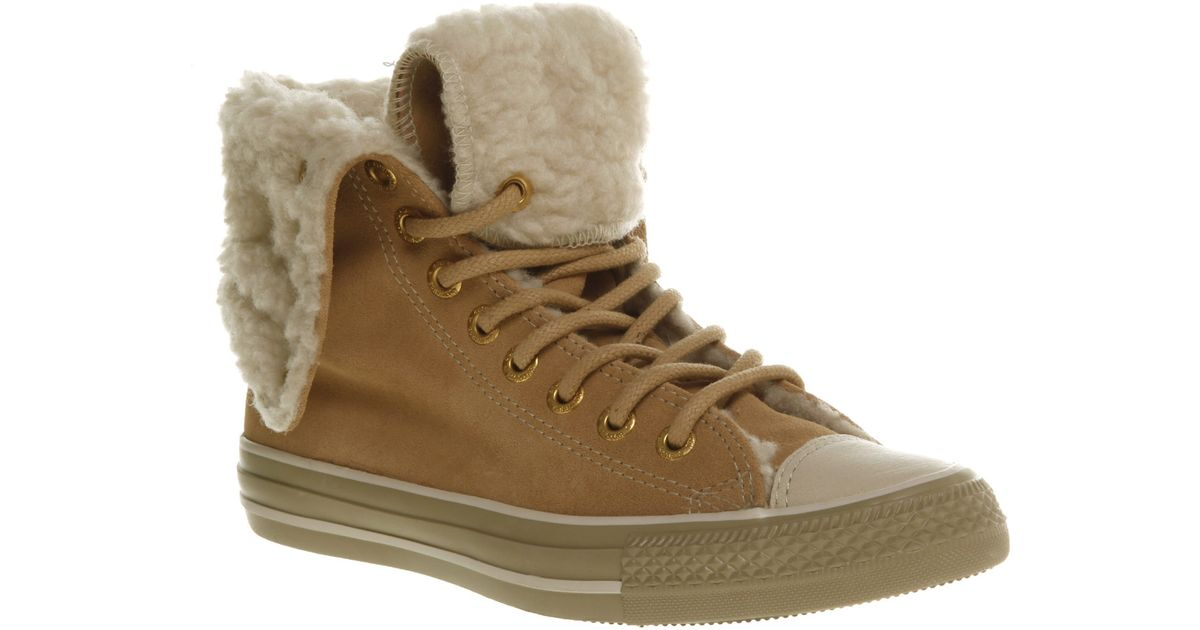 4f58bf1bded7 Lyst - Converse X High Sand Sdeshr Ex in Natural