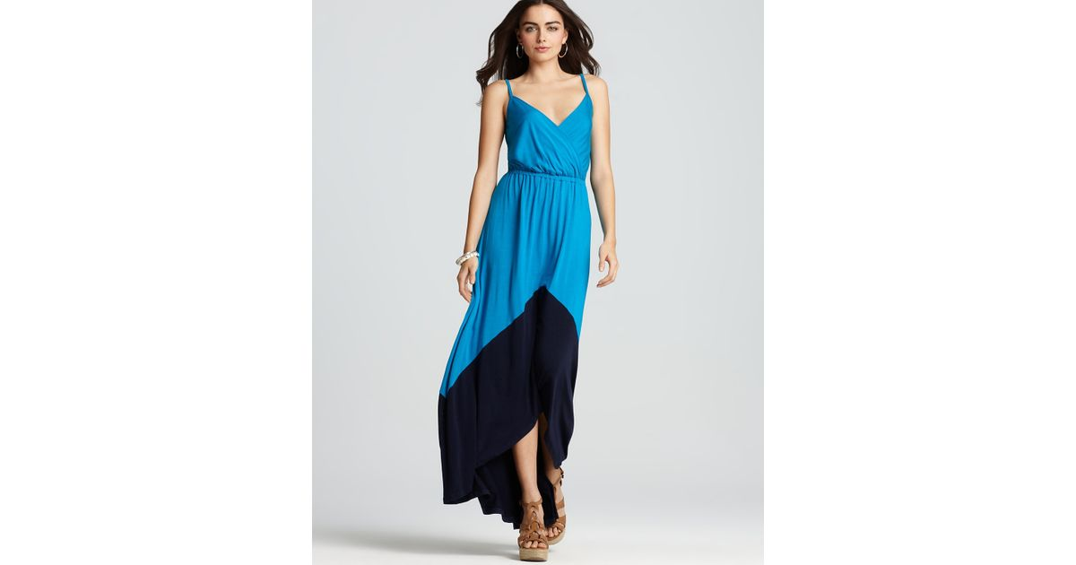 Michael stars Alba Color Block Maxi Dress in Black | Lyst