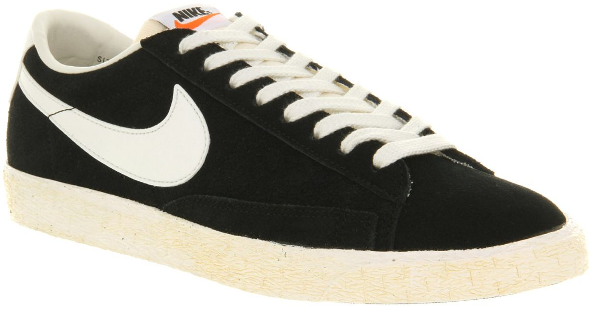 Lyst - Nike Blazer Low Vintage Black Suede in Black for Men ca93c39a320b
