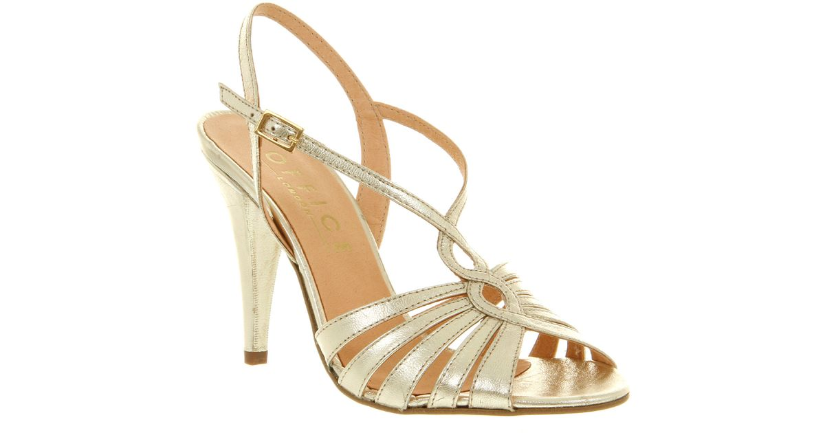 Office Kitten Strappy Sandal Champagne in Metallic | Lyst