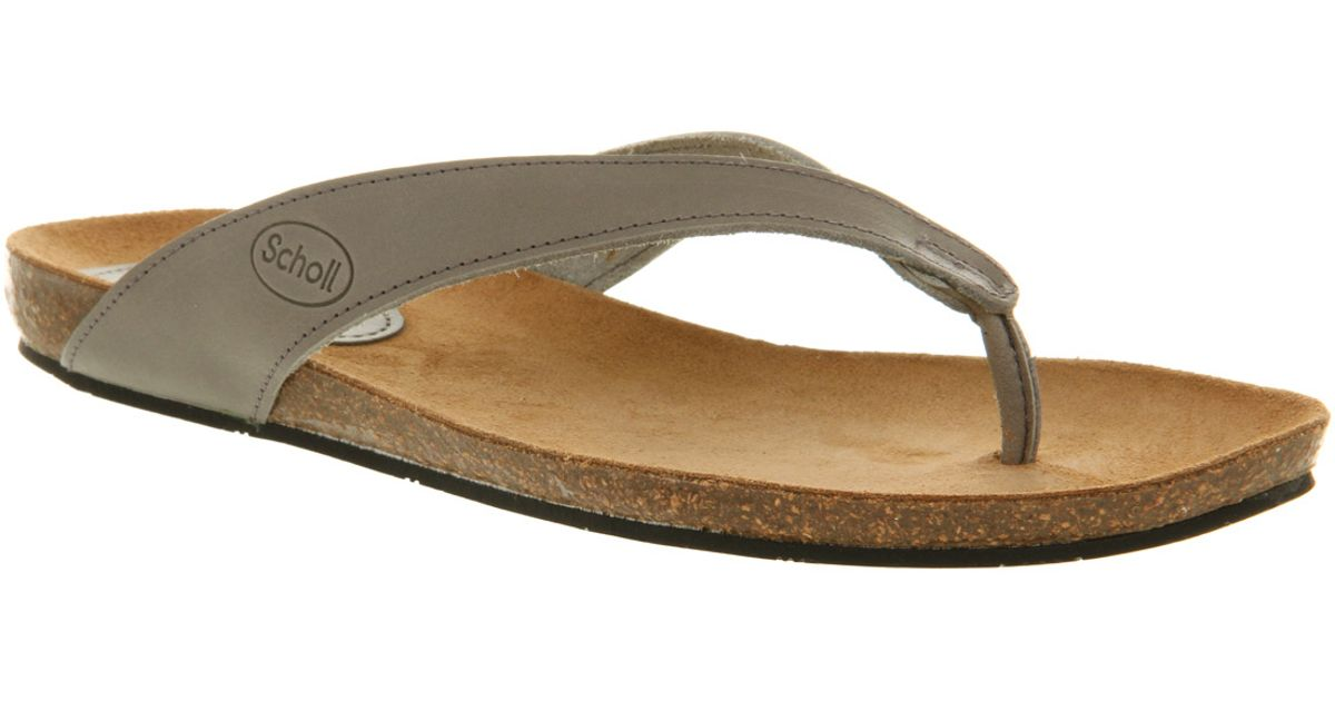 7b7e1d1f86e4 Scholl Tist Toe Bar Sandal in Gray - Lyst