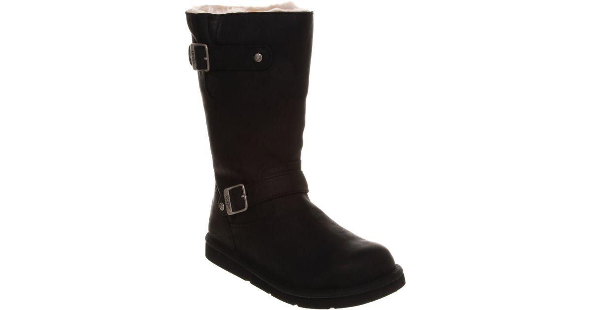 190535fc497 UGG Kensington Biker Boot Black Leather