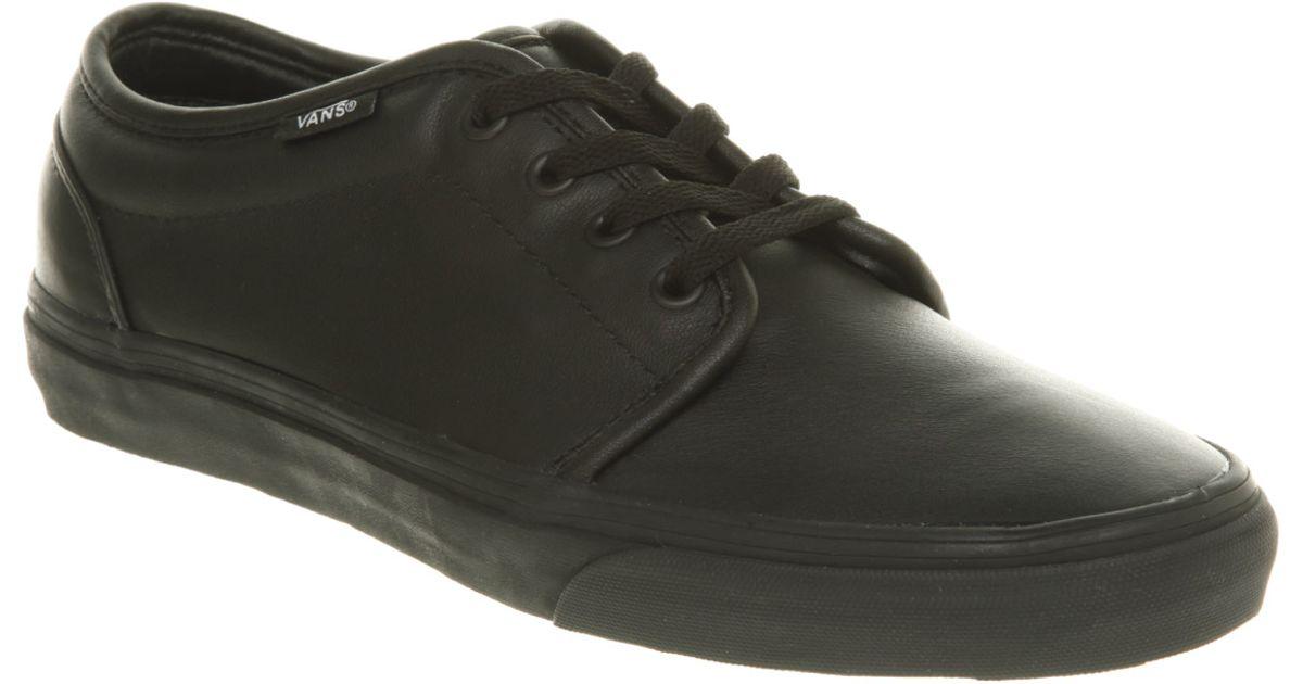 6ca2aef210 Lyst - Vans 106 Vulcanized Black Leather in Black for Men