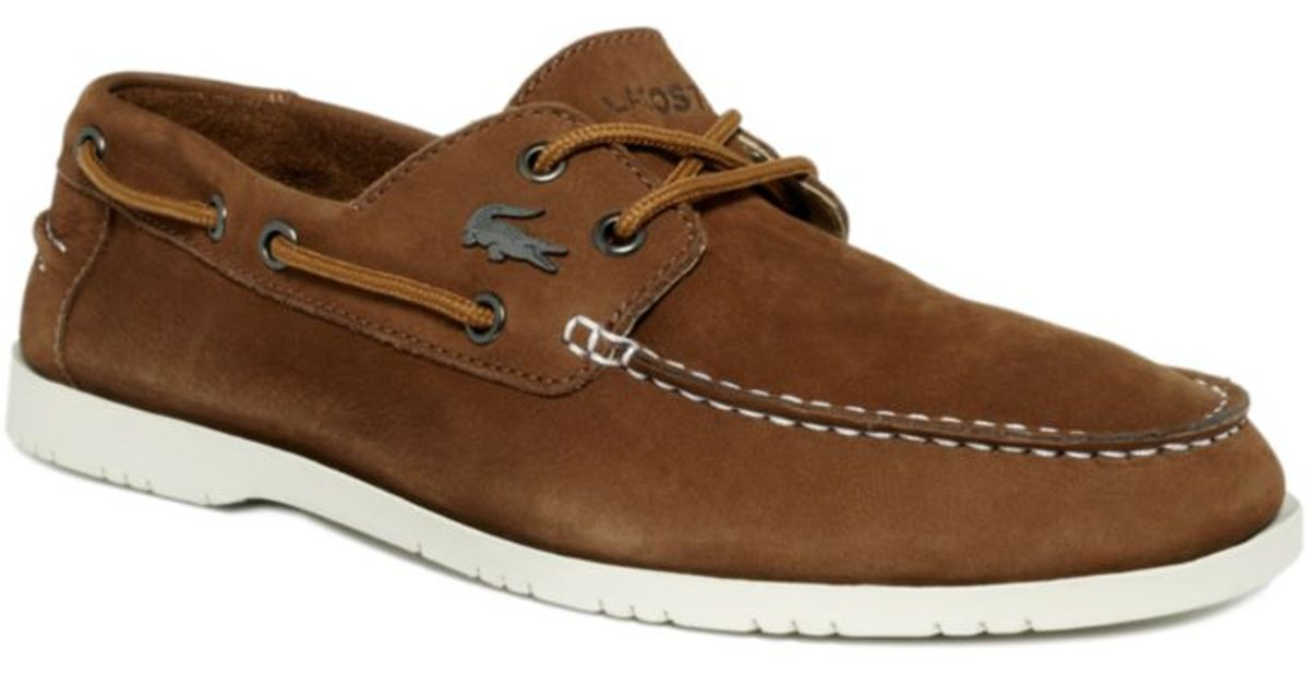 024d27106f21 ... fast delivery 9a70d ae626 Lyst - Lacoste Corbon Boat Shoes in Brown for  Men ...