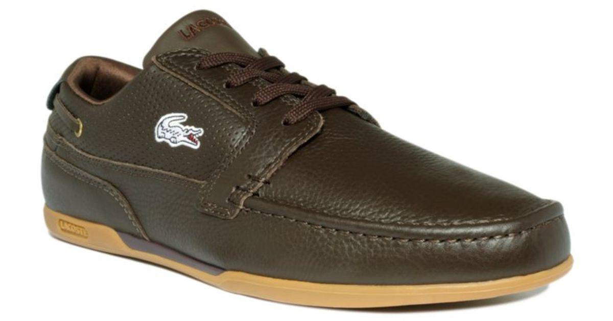 84f3b90c5eed6 Lyst - Lacoste Dreyfus Leather Boat Shoes in Brown for Men