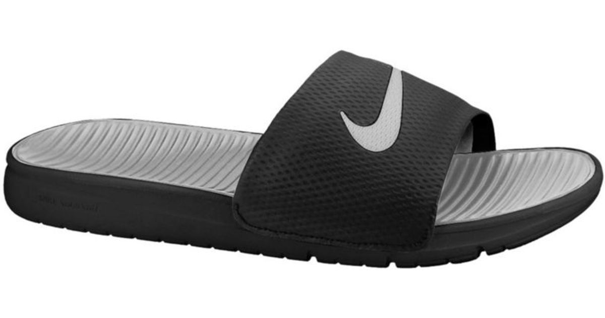 255597fe97a ... sandals 38616305p04aug13 5b108 1dfad  authentic lyst nike benassi  solarsoft slides in black for men ea2a5 e78de