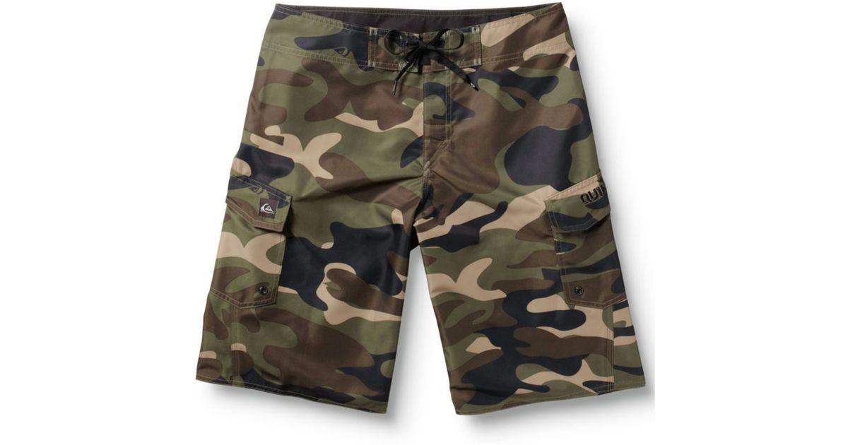 20f5b382c7 Quiksilver Manic Camo Board Shorts in Green for Men - Lyst