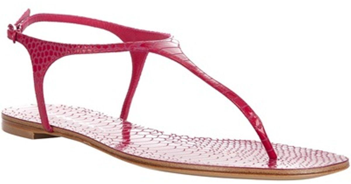 9645caa7aa5 Casadei Flat Sandal in Pink - Lyst