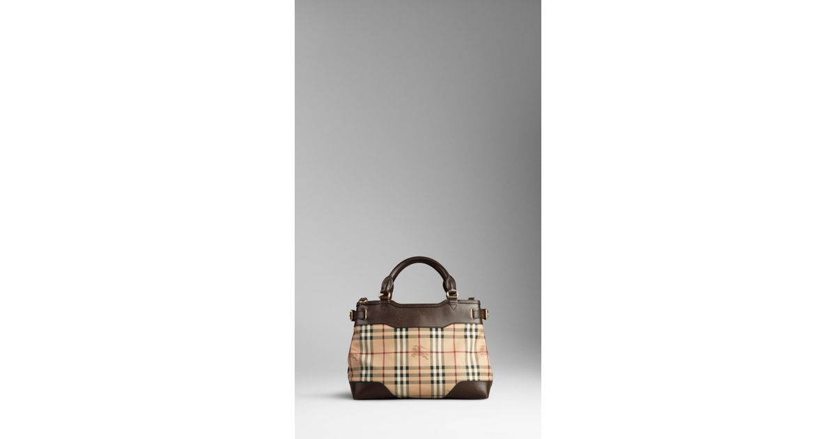 1023a0f5090 Lyst - Burberry Small Haymarket Check Tote Bag in Brown