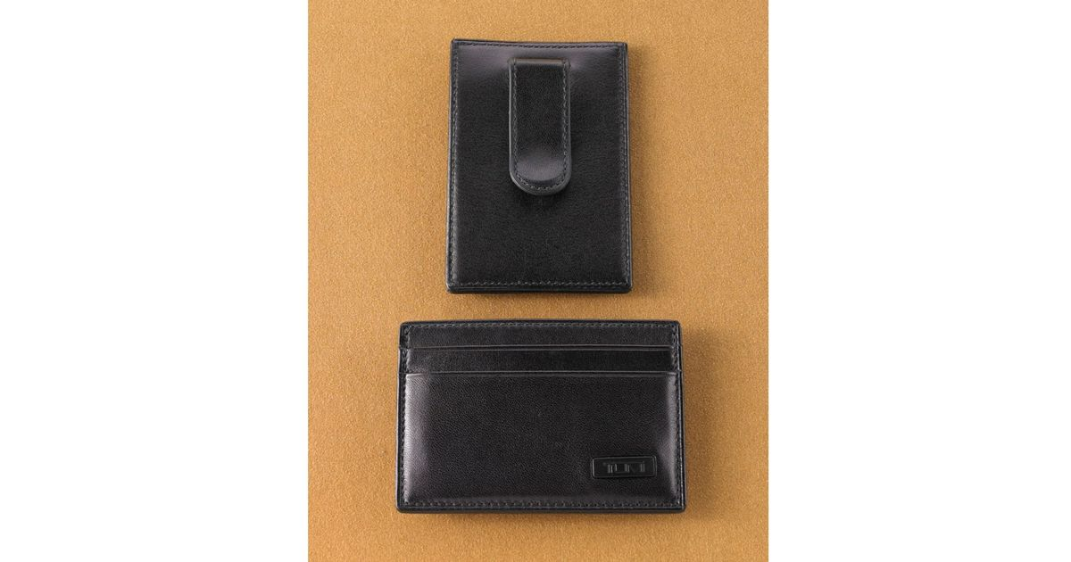 ab71f6453a82 Tumi Money Clip Card Case in Black for Men - Lyst